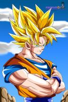 Super Saiyan 2 Son Goku by pinkycute03