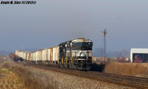 NS 54A grain train w/ Penn Central heritage by EternalFlame1891