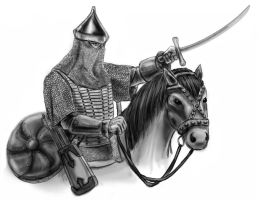 Russian - Muscovite cavalryman by old-stone-road