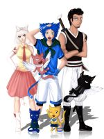 Fairy Tail .... ? Exceed Swap by Azareea