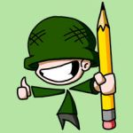The Cartoon Soldier by CartoonistsGalore