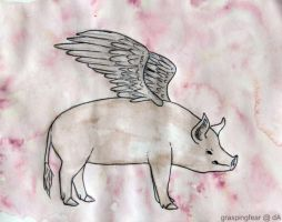 When Pigs Fly by graspingfear