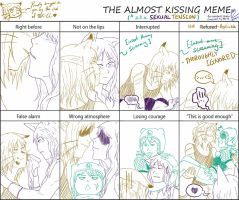 The Almost Kiss meme (TBK-CC Edition) by MUTE-sk3tch3s