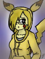 Pika girl by TheLazyRulee