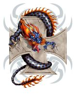 IRON CROSS DRAGON by CaziTena