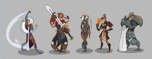 DnD 4e Party MK II lineup by hangemhigh13