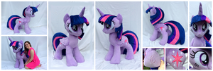 Lifesized Alicorn Twilight Sparkle Plushie by equinepalette