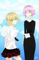 Crona and Maka by icaraus