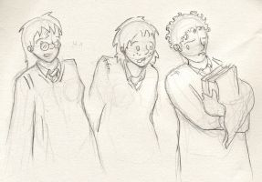 Gender-switched HP Trio by HiloHello