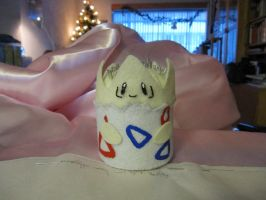 Togepi helps with sewing by mene
