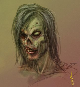 Zombie fastpaint by Soulfein