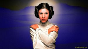 Carrie Fisher Princess Leia XLII paint Colour by Dave-Daring