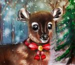 Bambi christmas forest by Famys