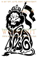 Sitting Lion Of Judah Tattoo by WildSpiritWolf