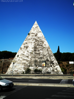 The Pyramid of Cestius by MiserySyndromex3