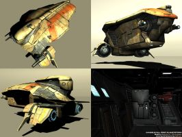 Khepera Class Air Transport by AStepIntoOblivion