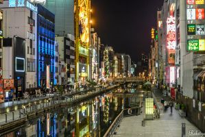 Reflections in Osaka by Rikitza