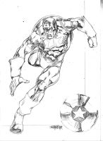 Sketch Steve Rogers by JeanSinclairArts