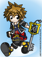 Sora - Kingdom Hearts by amy-art