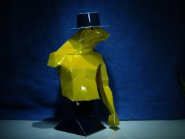 Papercraft Yellow Frog Man by Darkeyedkid