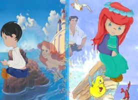 Little Mermaid and Eric by Sonala
