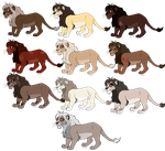 Lion Breedables (OPEN) by ATwistedRumour