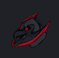 angry looking monstro by thirddivision