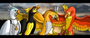 The Four Phoenixes: photo bg by WhitePhoenix7