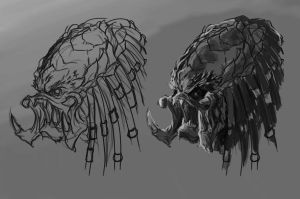 predator head scetch by BenedictWallace