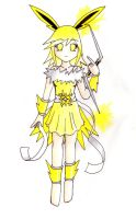 Gijinka Goddess - Jolteon by nya-nannu