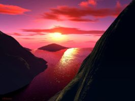 Terragen - Red Sunset by flohannes