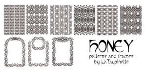 Honey pattern brushes by LaTaupinette