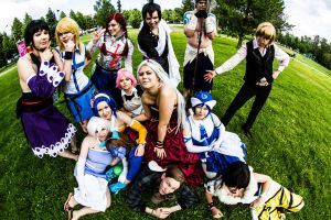Fairy tail group and random XD by SaaraZ