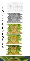 Broly Process by Xainartist