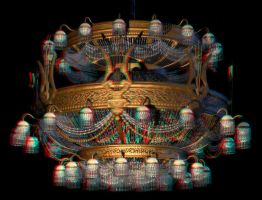 Chandelier Anaglyph (Phantom's) 3D Render by aemiliuslives