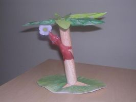 Pikmin On Tree Papercraft by TheLittlestGiant