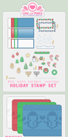 Stamp - Winter Holiday Kit by firstfear