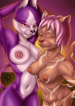 Mia and Kittyrose show the goods by SacrificAbominat