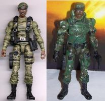 Sgt Johnson before and after by MarkieMarky