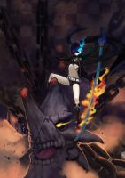 BLACK ROCK SHOOTER vs mh by yukiusagi1983