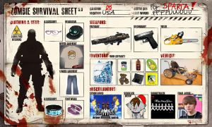 Zombie Survival Sheet -FILLED- by WingedWarrior13