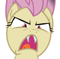 Flutterbat Angry Face by PaulySentry