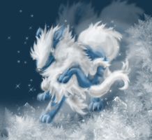 Ice Arcanine by DarkCrow3