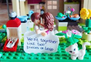 Lego Love by naked-in-the-rain
