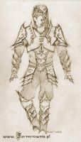 Drow Armor sketch by farmer-bootoshysa