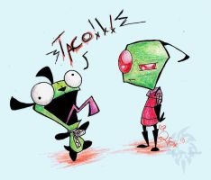 Zim+GIR by Rica-Fox-Prower