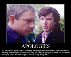 Apologies Demotivational Poster by shallowgravy