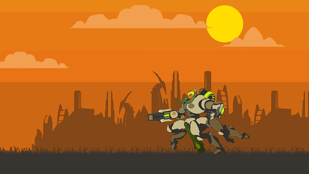 Orisa Wallpaper by Ilona-the-Sinister