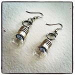 Steampunk Lightbulb Earrings by NBetween