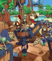 DKC Tropical Freeze: Shipwreck Shore by MatiZ1994